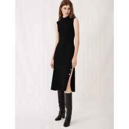 120ROXIE Stretch knit slit dress