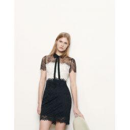 Two-tone lace dress