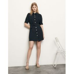 Shirt dress with decorative buttons