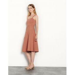 Knit dress with rhinestone gems