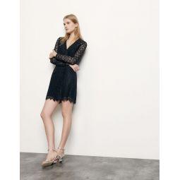 Lace coat dress