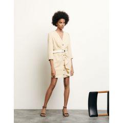 Short dress with peplum