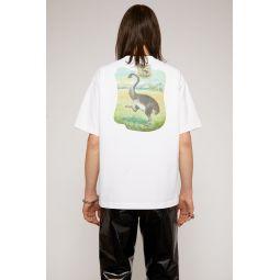 Dinosaur print t-shirt optic white