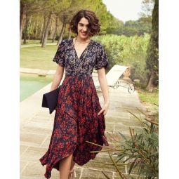 Heather Hem Detail Midi Dress