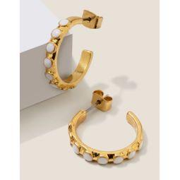 Enamel Hoop Earrings