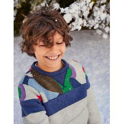 Cosy Shaggy-lined Sweatshirt - Grey Marl