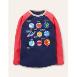 Glow-in-the-dark T-shirt - College Navy Planets