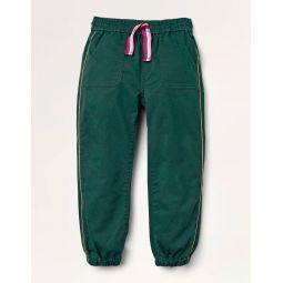 Sparkle Side Stripe Pants - Emerald Night