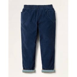 Lined Pull-on Cord Pants - College Navy
