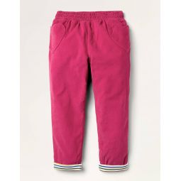 Lined Pull-on Cord Pants - Candy Pink
