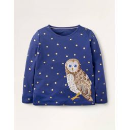 Majestic Animal T-shirt - Starboard Blue Owl