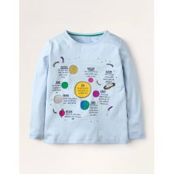 Fun Facts T-shirt - Provence Blue Space