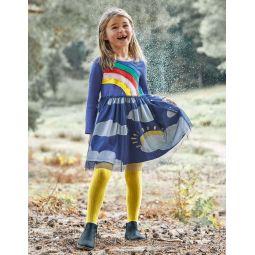 Weather Scene Dress - Starboard Blue