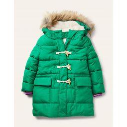 Longline Padded Jacket - Highland Green