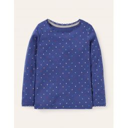 Supersoft Pointelle T-shirt - Starboard Multi Little Star