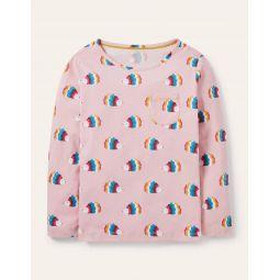 Fun Print Jersey T-Shirt - Boto Pink Multi Hedgehogs