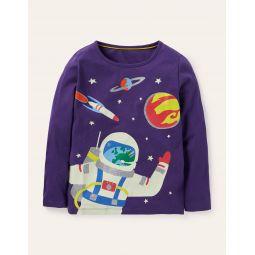 Glow-in-dark T-shirt - Bijou Purple Astronaut