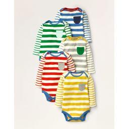 Stripy 5 Pack Bodies - Multi Stripe