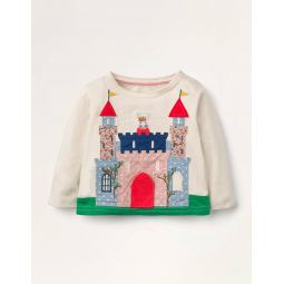 Peekaboo Flap T-shirt - Ivory Castle