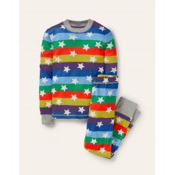 Snug Glow-in-the-dark Pajamas - Rainbow Glowing Stars
