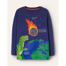 Fun Facts T-shirt - Starboard Blue Asteroid Dino