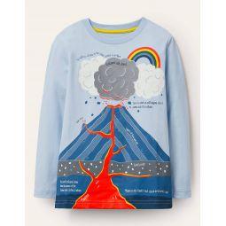 Fun Facts T-shirt - Provence Blue Volcano
