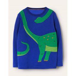 Fun Dinosaur T-shirt - Brilliant Blue Dino