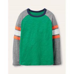 Raglan T-shirt - Sapling Green/Grey Marl