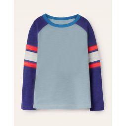 Raglan T-shirt - Misty Blue/Starboard Blue