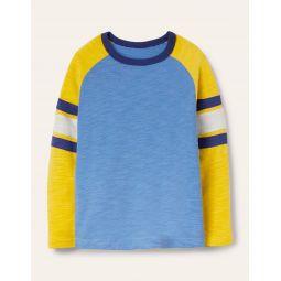 Raglan T-shirt - Elizabethan Blue/Yellow