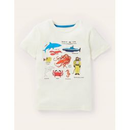 Graphic Animals T-shirt - Ivory Under-the-Sea