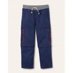 Zip-off Techno Pants - College Navy