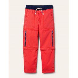 Zip-off Techno Pants - Strawberry Tart Red