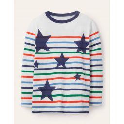 Fun Breton T-shirt - Multi Stars
