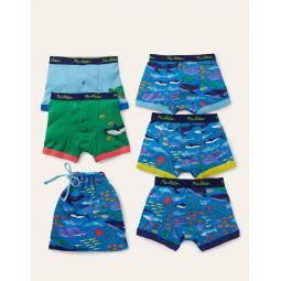 Boxers 5 Pack - Multi Sea Creatures