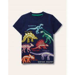 Glowing Dinos T-shirt - College Navy Dinos