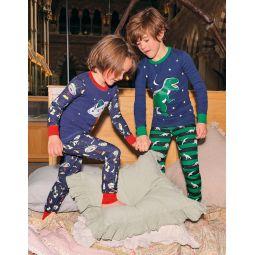 Snug Glow-in-the-dark Pajamas - College Navy Dinosaur