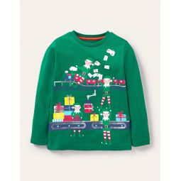 Christmas Deliveries T-shirt - Highland Green Elf Factory