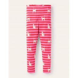 Fun Leggings - Pink/Red Glow-in-the-dark Cats