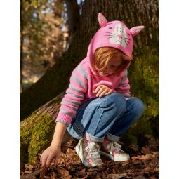 Bunny Knitted Hoodie - Formica Pink