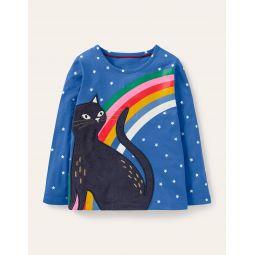 Glow-in-the-dark Cat T-shirt - Elizabethan Blue Cat
