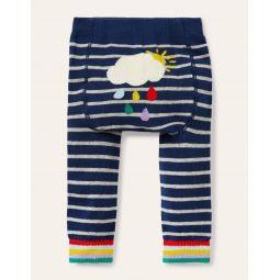 Knitted Leggings - College Navy/Grey Marl Cloud