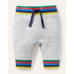 Rainbow Rib Jersey Bottoms - Grey Marl