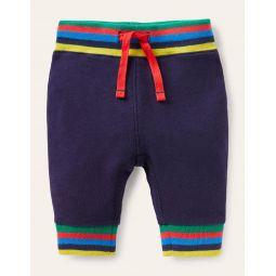 Rainbow Rib Jersey Bottoms - Starboard Blue