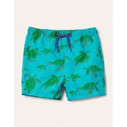 Fun Swim Trunks - Blue Turtles