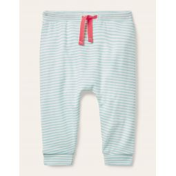 Organic Newborn Trousers - Frosted Blue/Ivory