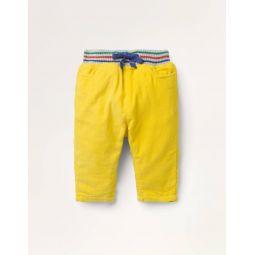 Rib Waist Pants - Honeycomb Yellow