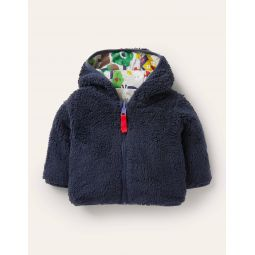 Reversible Jacket - Grey Marl Bears