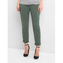 Maternity Inset Panel Girlfriend Chinos