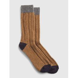 Colorblock Boot Socks